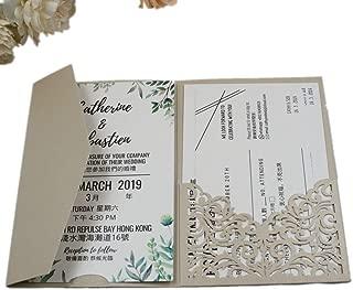 Best tri fold invitation card Reviews