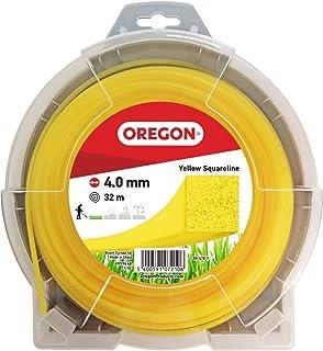 Oregon 69-478-Y Hilo Cuadrado Amarillo para cortadoras de césped y desbrozadoras, 4,0 mm x 32 m, 4.0mm x 32m