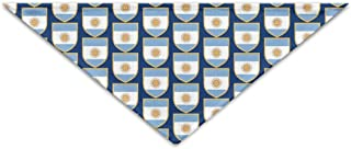 Cute Argentinian Flag Polyester Fiber 100% Pet Scarf Dog Bandana Collars