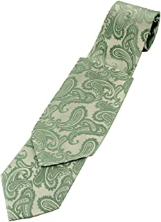 Paisley Men's Necktie and Pocket Square set in Sage