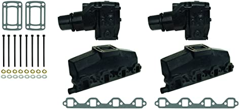 Exhaust Manifold Kit compatible with OMC Volvo Penta V8 Ford 5.0L 302 5.8L 351 (EFI Engines 1991-& UP) 3852347 3855271
