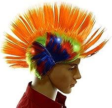 Light-up Blinking LED Party Wig – Rave Halloween Party Costume – Orange