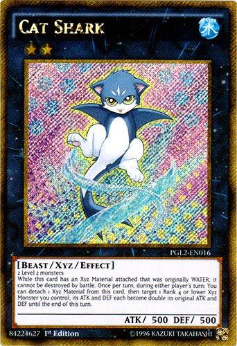Yu-Gi-Oh! - Cat Shark (PGL2-EN016) - Premium Gold: Return of the Bling - Unlimited Edition - Gold Secret Rare