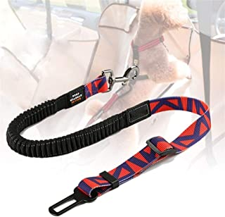 ZOUJIN Adjustable Dog Seat Belt for Car Dog Car Harness with Bungee Buffer Safety Elastic Leads (Color : 2)