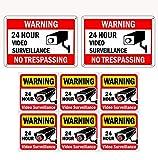 WISLIFE Video Surveillance Sign Set, 2 (10' X 7') Aluminum Warning Signs & 6...
