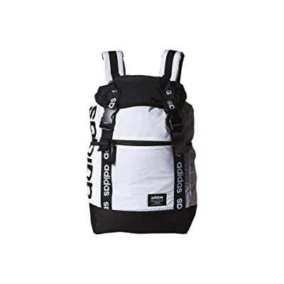 adidas Midvale Plus Backpack (White/Black) Backpack Bags