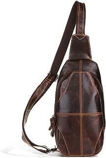 Mens Bag Fashian Man's Leather Long Section Single Shoulder Multi-function Messenger Handbag Shoulder Bag High capacity