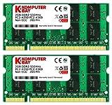 Komputerbay 4GB DDR2 533MHz 2X 2GB PC2-4200 PC2-4300 (200 PIN) SODIMM Laptop-Speicher