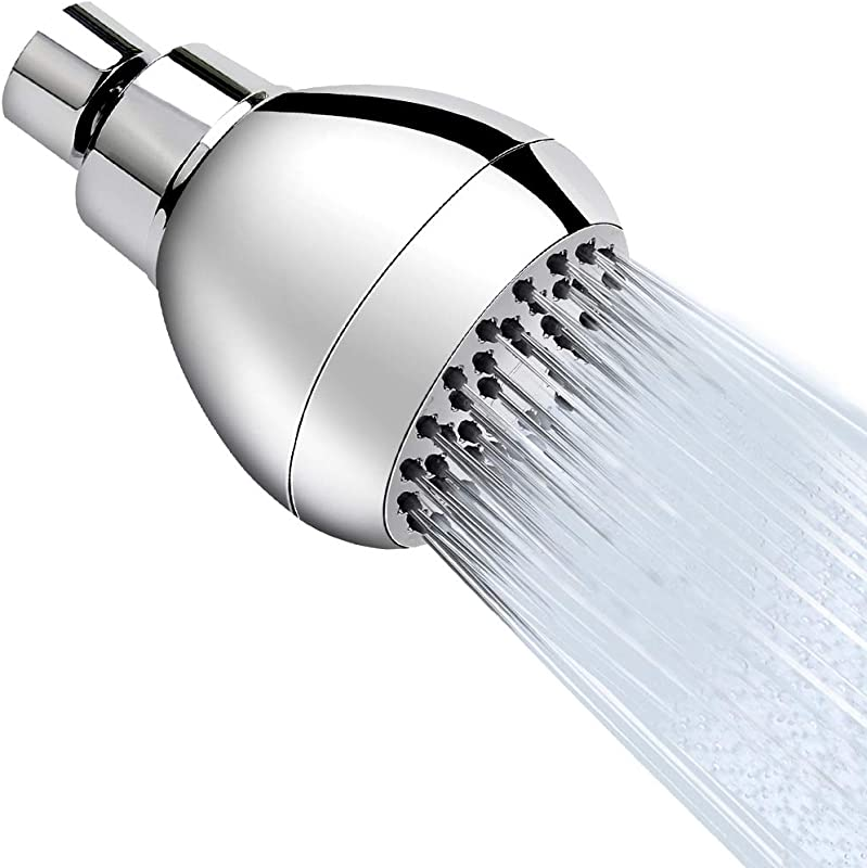 High Pressure Shower Head 3 Inches Anti Clog Anti Leak Fixed Showerhead Chrome With Adjustable Swivel Brass Ball Joint For Relaxing And Comfortable Shower Experience Aisoso