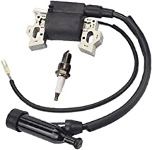 Buckbock Ignition Coil for Honda Gx240 Gx270 Gx340 Gx390 8hp 9hp 11hp 13hp Engine Lawn Mower Tractor Generator w/Spark Plug