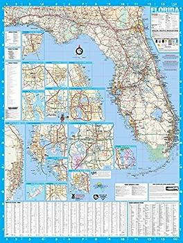 Florida State Laminated Wall Map Poster 36x48