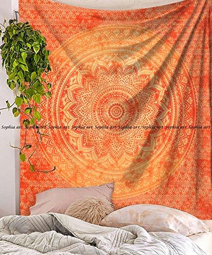 Sophia-Art indischer Mandala Hippie Wandteppich Wandbehang Einzigartige indische Tapisserie