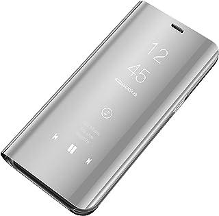 Funda Galaxy S7 Suave + Duro Carcasa Espejo Mirror Flip Caso Galaxy S7 Flip Clear View Standing Cover Slim Fit Anti-Shock Anti-Rasguño Mirror Cover para Samsung Galaxy S7 Edge
