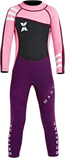 DIVE & SAIL Kids 2.5Mm Long Sleeve One Piece Full Body Wetsuit Uv Protection Thermal Swimwear Keep Warm for Scuba Diving Surfing Snorkeling Swimming Fishing for Boys Girls