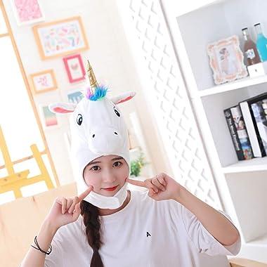 Tomaibaby Sombrero de Disfraz de Animal Sombrero de Unicornio de Felpa Sombrero de Animal Sombreros de Fiesta Divertidos Diad