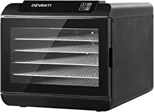 DEVANTi Food Dehydrators Commercial 304 Stainless Steel Beef Jerky Maker Fruit Dryer with 6 Trays