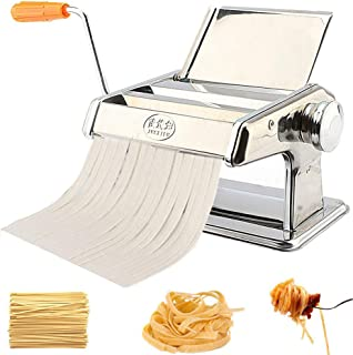 Ejoyous Máquina para Hacer Pasta Manual de Acero Inoxidable