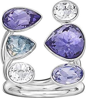 Swarovski Evade Rhodium Plated Crystal Fashion Ring - Size S