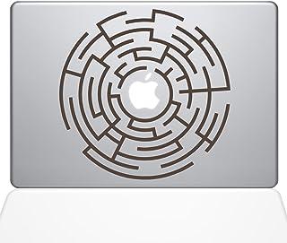 "The Decal Guru Circle Maze Runner Macbook Decal Vinyl Sticker  - 13"" Macbook Pro (2015 & older) - Brown (1289-MAC-13P-BRO)"