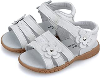 dc8ebfe1e2c3 Bumud Girls Genuine Leather First Walkers Flower Open Toe Sandals (Toddler