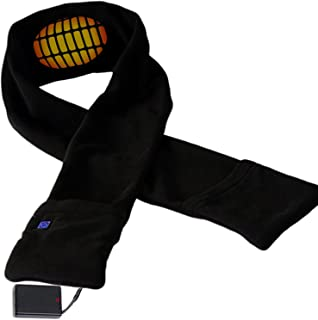 Heated Scarf with Neck Heat Pad - Electric Battery Operated Heated Neck Wrap, Heated Clothing for Men, Heated Scarves for ...
