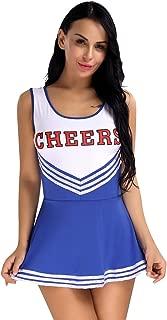 Alvivi Women's Sexy Varsity High School Cheer Girl Cheerleading Uniform Costume Halloween Fancy Dress