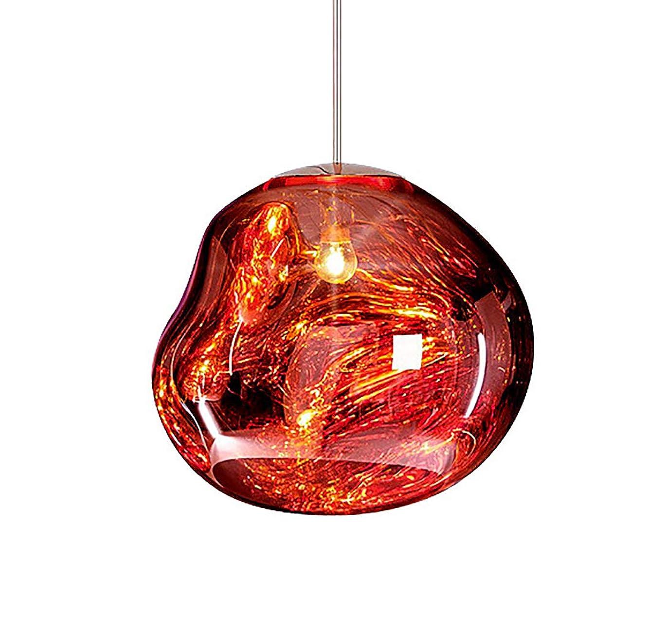 病んでいるカードタックルzhbotaolang 北欧 溶岩 ペンダント ランプ モダン - クリエイティブ レストラン バー シーリング ライト 服 ストア 寝室 レトロ ガラス シャンデリア(電球 含まれていません) 20CM レッド