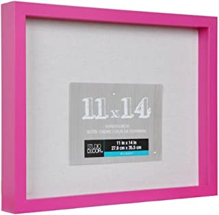 Colored Shadow Box Display Case 11x14 Shadow Box Art Picture Frame Wood & Glass Memory Box Frame with Linen Back for Award...