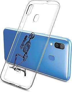 Oihxse beschermhoes voor Samsung Galaxy Note 10, ultradun, transparant, zachte TPU-gel, silicone, schattig motief, schokbe...