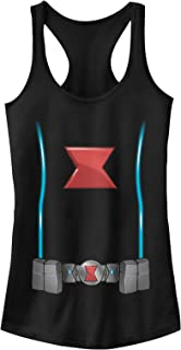 Marvel Juniors' Black Widow Costume Racerback Tank Top