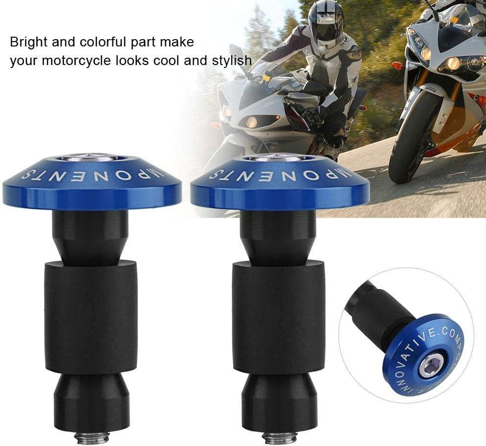 Blue 22mm 7//8inch Rubber Motorcycle Handlebar End Slider Plug Caps for Racing ATV Offroad Suuonee Handlebar Plug