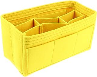 HOMYL Felt Tote Handbag Purse Multi Pocket Organizer Insert Shaper Bag in Bag Packing Organizers - Yellow, as described