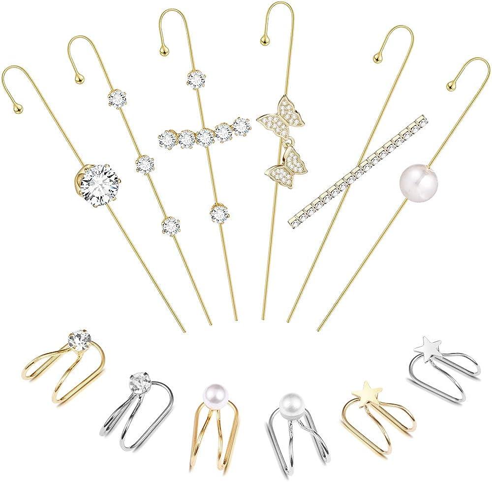 12PcsEar Wrap OFFicial Crawler Hook Earrings 5 ☆ very popular for Earcuffs Women