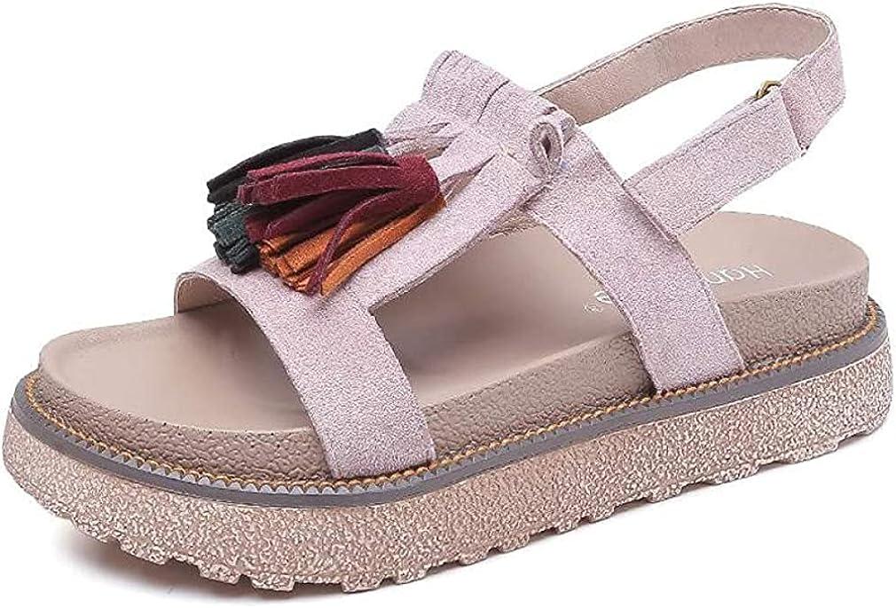 Ranking TOP6 Women's Great interest Tassels Platform Sandal Summer Ankl Comfortable Flatform