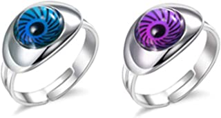 Acchen Mood Rings Two Eyes Change Color Emotion Feeling Finger Ring with Gift Box (Dolphin)