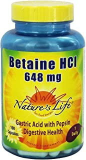Betaine Hcl 648 Milligrams 100 Capsules