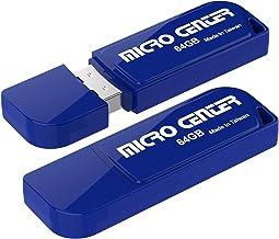 Micro Center 2 Pack 64GB USB 2.0 Flash Drive USB Stick External Data Storage Mini Thumb Drive with Keychain Hole(64GB-2 Pa...