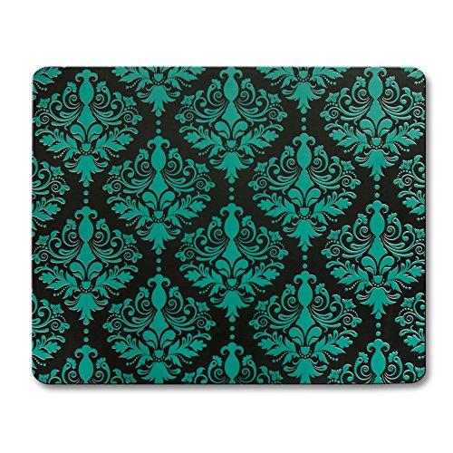 casa pura Bodenschutzmatte Susanna | ausgefallenes Ornament Design | ca. 91x73 cm | für Teppich und Hartboden | Unterseite mit Antirutsch Beschichtung | Farbe Grün