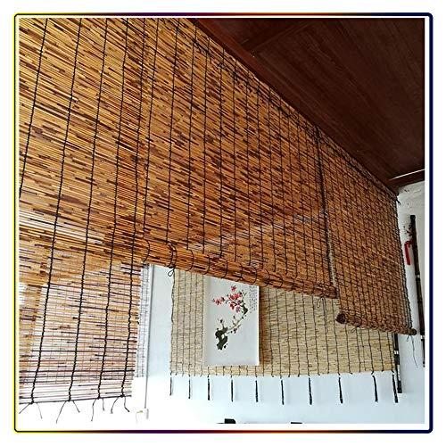 L-KCBTY Persiana Bambu Exterior| Cortinas Y Estores|Cortina De Madera|Toldo/Natural/Transpirable|Valla De Privacidad/Jardin/Planta De Flor