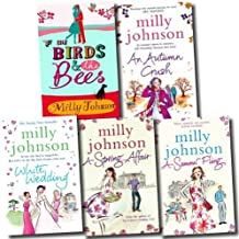 Milly Johnson Collection 5 Books Set (White Wedding, An Autumn Crush, A Summer Fling, The Birds and the Bees, A Spring Aff...