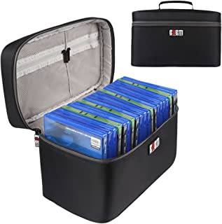 BUBM Portable Carrying Case Compatible with PS4/ PS4 PRO, Fit Xbox One Game Disc Storage Bag Travel Case(Hold Up to 20 Discs)-Black