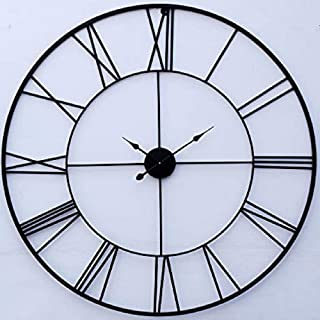 Craftter Stylish and Latest Metal Wall Clock for Living Study Hall Dining and Bedroom | Roman Modern Time Piece for Home O...