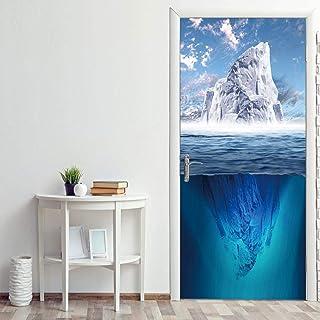 Sticker Porte Iceberg Paysage Porte Autocollant 3D Papier Peint Porte Murale Décoration De La Maison