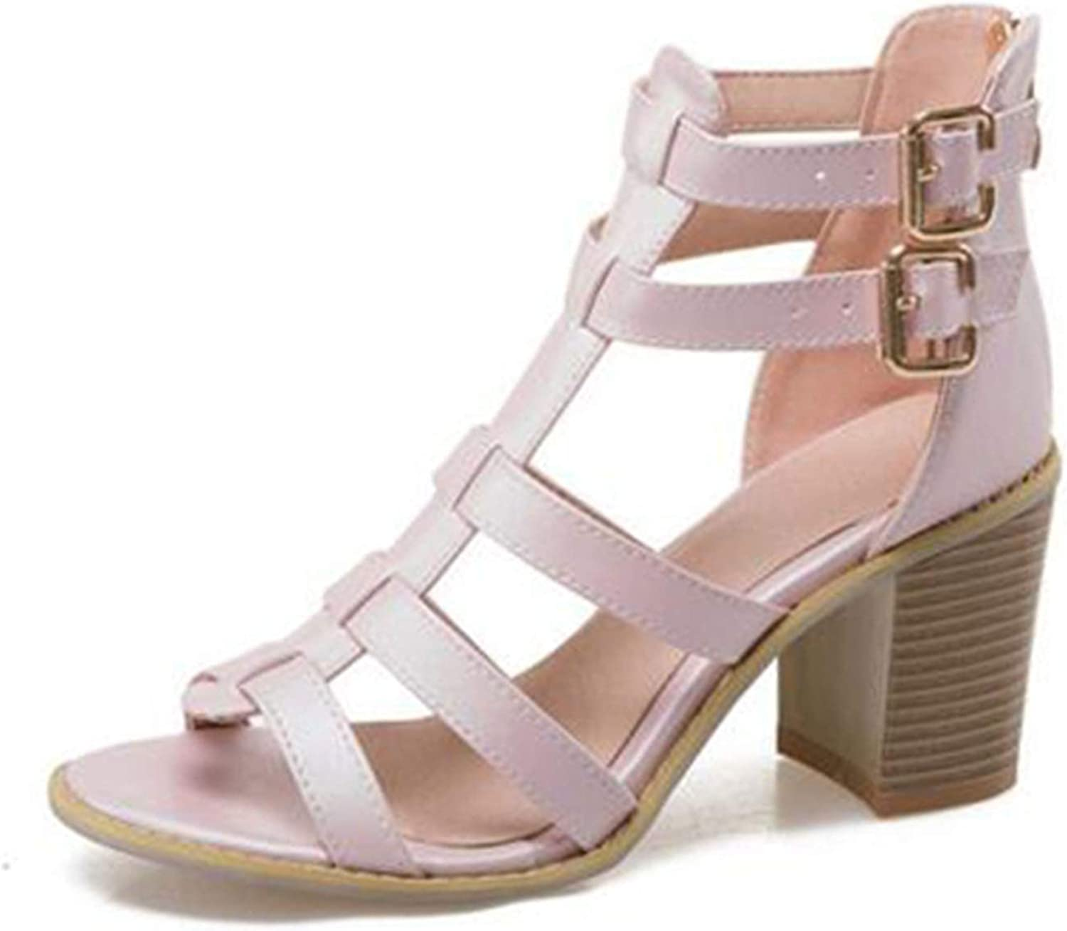 shoes Women Square High Heel Sandals Gladiator Fashion Summer shoes Woman Sexy Party