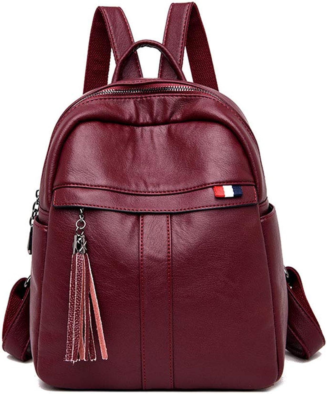 Women's Double Shoulder Bag Academy Travel Bag Ladies Fashion Casual Backpack(FM)
