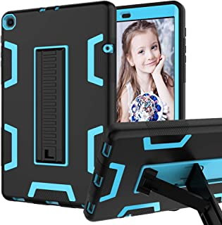 CCMAO Samsung Galaxy Tab A 10.1 2019 Case, SM-T510 Case, Hybrid Three Layer Armor Shockproof Rugged Drop Protection Case with Kickstand for Galaxy Tab A 10.1 2019(SM-T510 /T515) (Black+Blue)