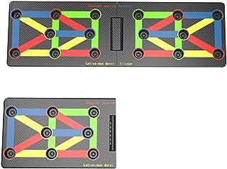R&Xrenxia Empuje Junta para Arriba, El Empuje 9 En 1 Sistema Push-Up Soporte, Culturismo Soportes Junta, Entrenamiento Fitness Gym Casero del Ejercicio