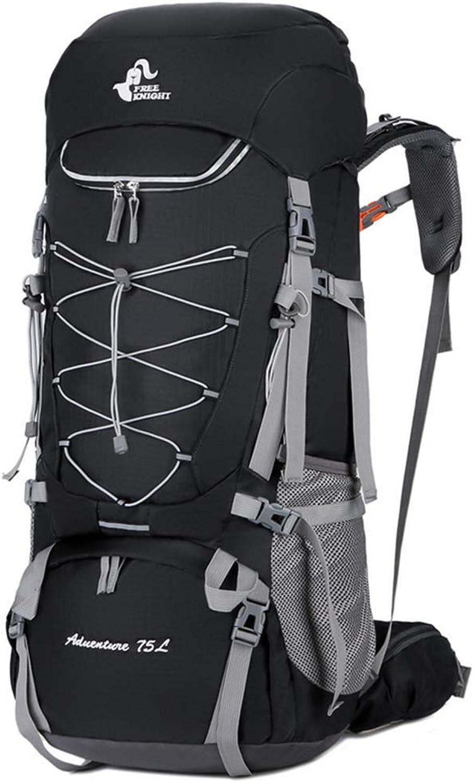 ASDF Mit Regenschutz 75L Wanderrucksack, für Outdoor-Touren, Trekking im Winter
