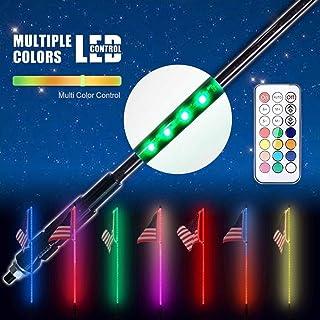 AL4X4 3FT LED Whip Lights Dream Wrapped Dancing Whips Remote Controlled for Polaris RZR ATV Antenna Whip UTV Quad Sand Dune Buggy Flag Poles(One Whip)