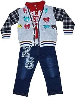Loch Denim Hosen Zweiteiliger Kinderbekleidung PPangUDing Babykleidung Neugeborene Baby M/ädchen Bekleidung Set Mode Gestreifte Trompeten/ärmel R/üschen Strampler Tops